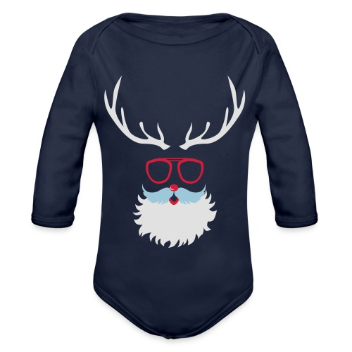 Santa Clauss Eye glasses - Body Bébé bio manches longues