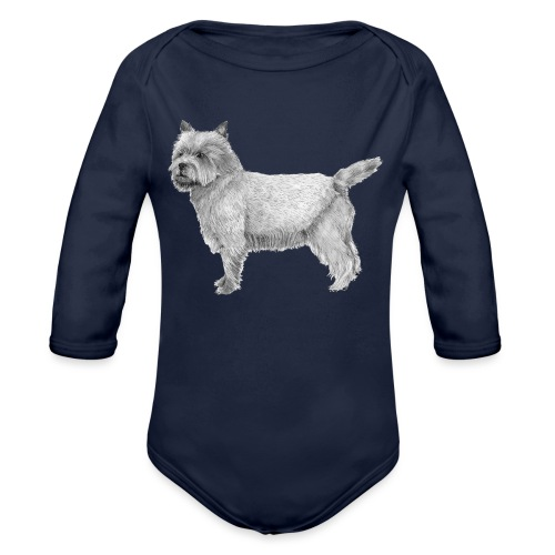 cairn terrier - Langærmet babybody, økologisk bomuld
