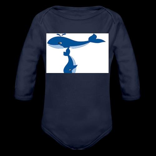 whale t - Organic Longsleeve Baby Bodysuit