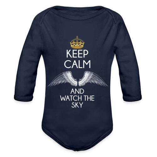 Keep Calm - Ekologiczne body niemowlęce z długim rękawem