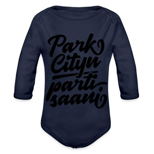 Puistola - Park Cityn partisaani - Vauvan pitkähihainen luomu-body