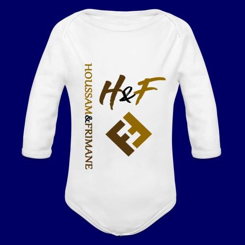 h&F luxury style - Body ecologico per neonato a manica lunga