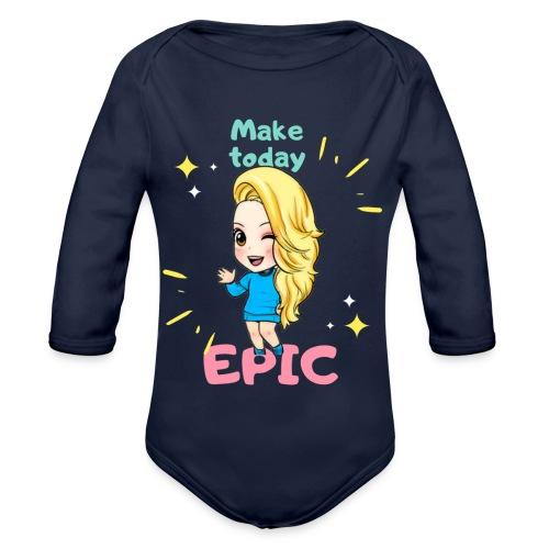 make today epic - Ekologisk långärmad babybody