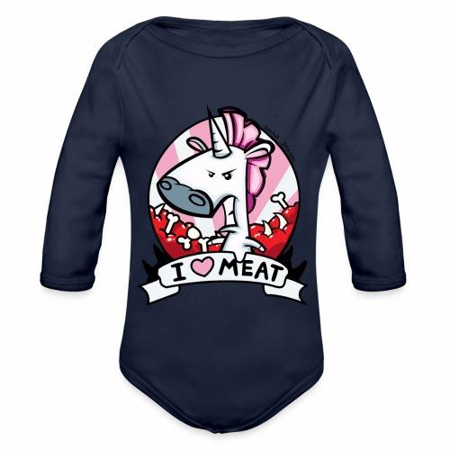 I love Meat by Nina-Nice - Baby Bio-Langarm-Body