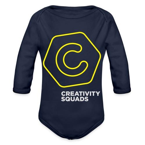 CreativitySquads 002 - Vauvan pitkähihainen luomu-body