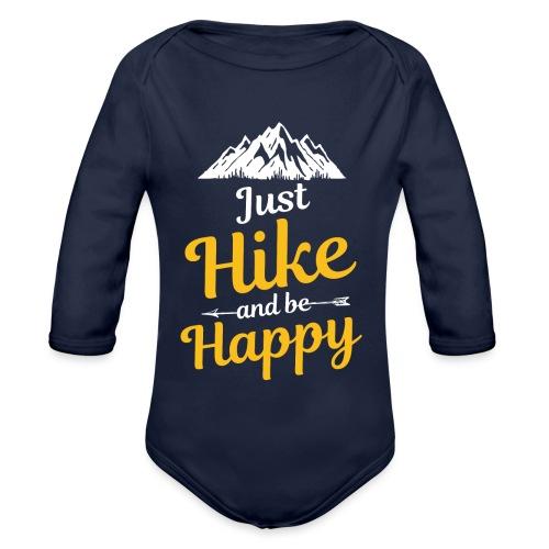 Just Hike And Be Happy Nature-Design für Hiking - Baby Bio-Langarm-Body