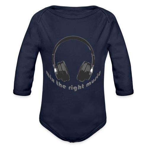 DJ Mix the right music, headphone - Baby bio-rompertje met lange mouwen