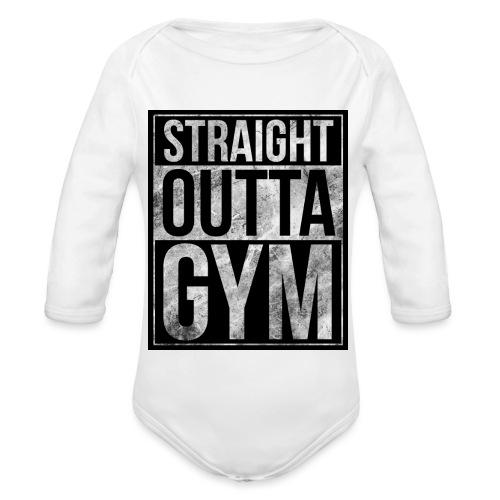 Fitness design - Straight Outta Gym - Organic Longsleeve Baby Bodysuit