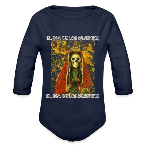 El Dia De Los Muertos Skeleton Design - Organic Longsleeve Baby Bodysuit