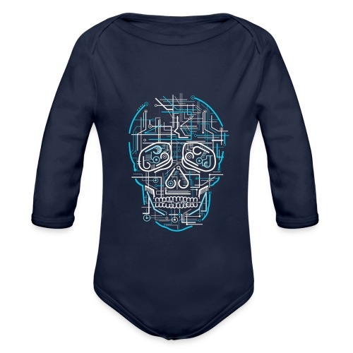 electric skull tshirt ✅ - Baby Bio-Langarm-Body