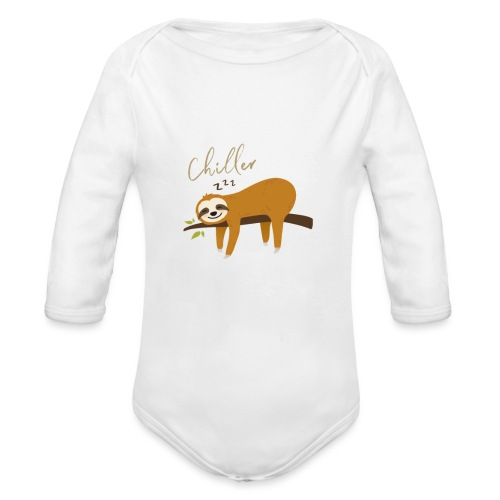 Auftragstchiller Super Cutes und Lustiges Design - Baby Bio-Langarm-Body