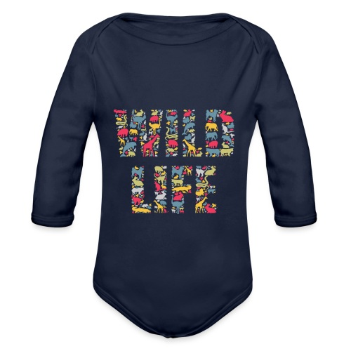 Wild Life - Baby Bio-Langarm-Body
