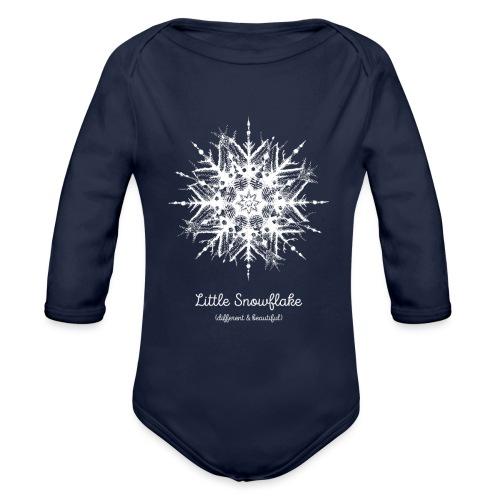 Schneeflocke Weihnachten Liebe Geschenk Kinder - Baby Bio-Langarm-Body