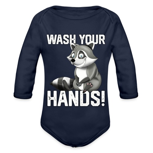 Wash Your Hands | Raccoon Lover | Wash Hand - Body ecologico per neonato a manica lunga