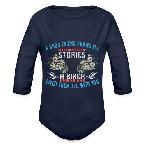 Biker stories. - Organic Longsleeve Baby Bodysuit