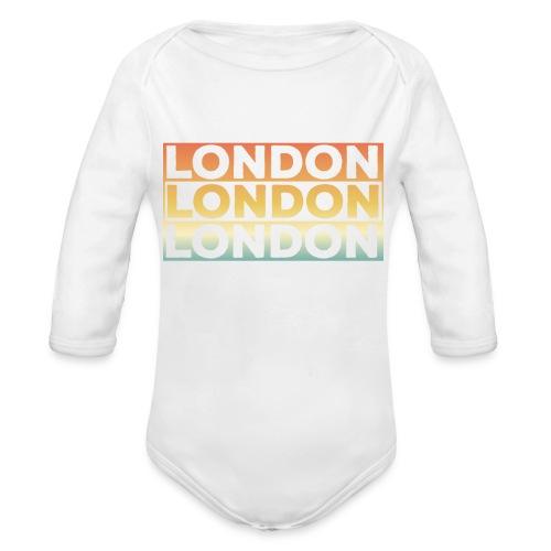 Vintage London Souvenir - Retro SehnsuchtLondon - Baby Bio-Langarm-Body