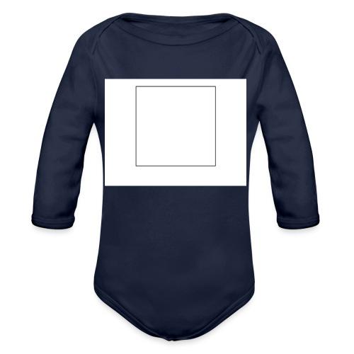 Square t shirt - Baby bio-rompertje met lange mouwen