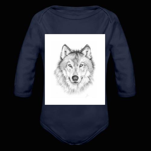 Wolf - Langærmet babybody, økologisk bomuld