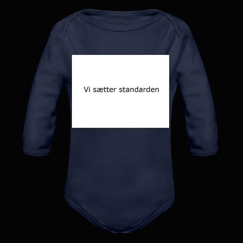 Vi Sætter Standarden - Langærmet babybody, økologisk bomuld
