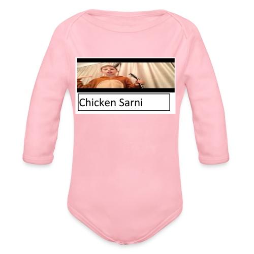 chicken sarni - Organic Longsleeve Baby Bodysuit