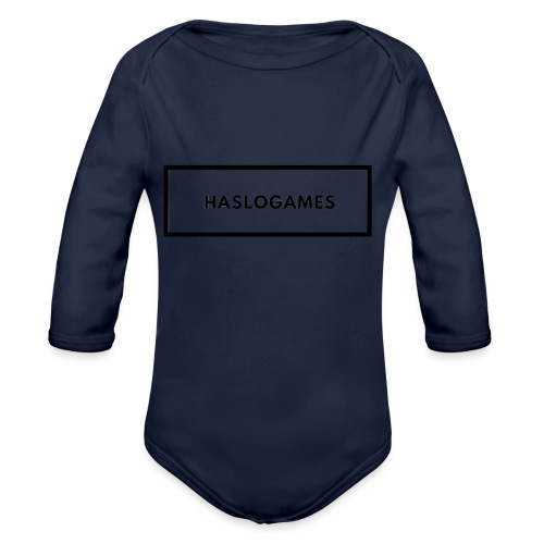 HasloGames White/Black edition! - Baby bio-rompertje met lange mouwen