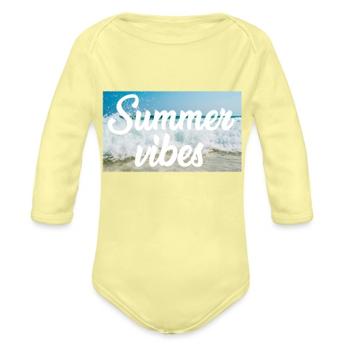 Summervibes - Baby Bio-Langarm-Body