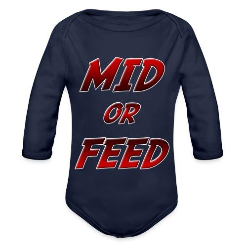 Mid or feed DONNA - Body ecologico per neonato a manica lunga