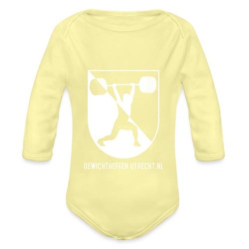 Gewichtheffen Utrecht Logo Trui - Baby bio-rompertje met lange mouwen