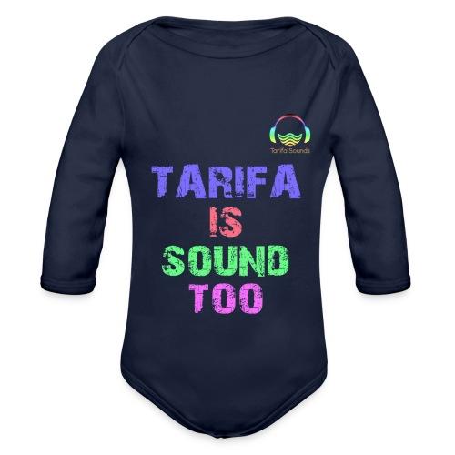 Tarifa tambiés es sonido - Body orgánico de manga larga para bebé