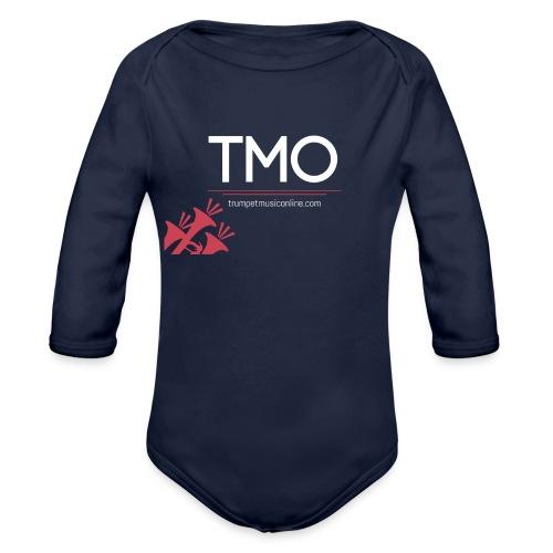 TMO official logo white - Organic Longsleeve Baby Bodysuit