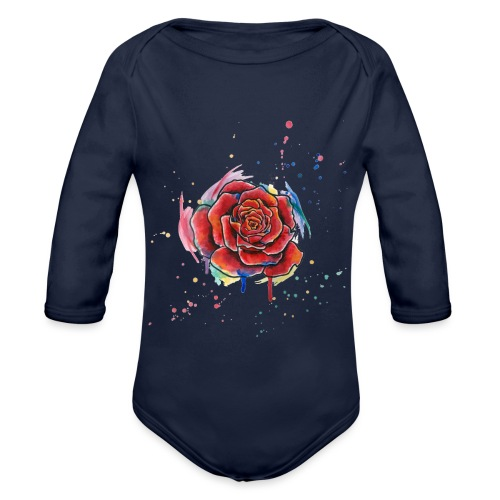 Rose Watercolors Nadia Luongo - Body ecologico per neonato a manica lunga