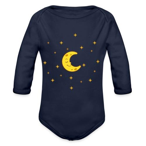 Mond und Sterne - Baby Bio-Langarm-Body