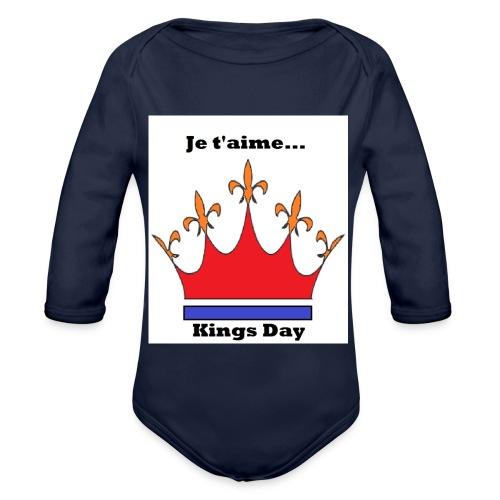 Je taime Kings Day (Je suis...) - Baby bio-rompertje met lange mouwen