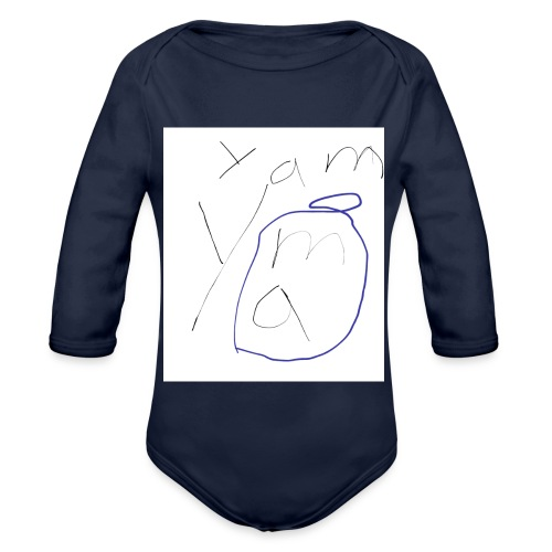 Yam yam t-shirt - Baby Bio-Langarm-Body