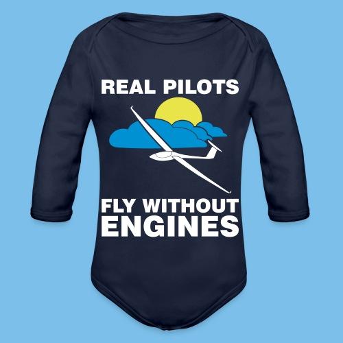 Segelflieger Geschenk Segelfliegen gleiten T-shirt - Baby Bio-Langarm-Body