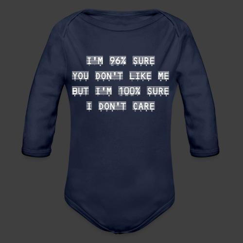 96% - Organic Longsleeve Baby Bodysuit