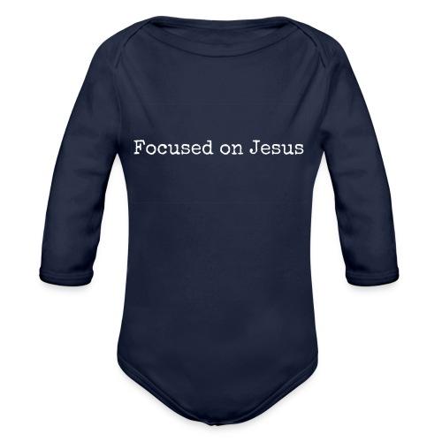Focus on Jeusus - Baby Bio-Langarm-Body