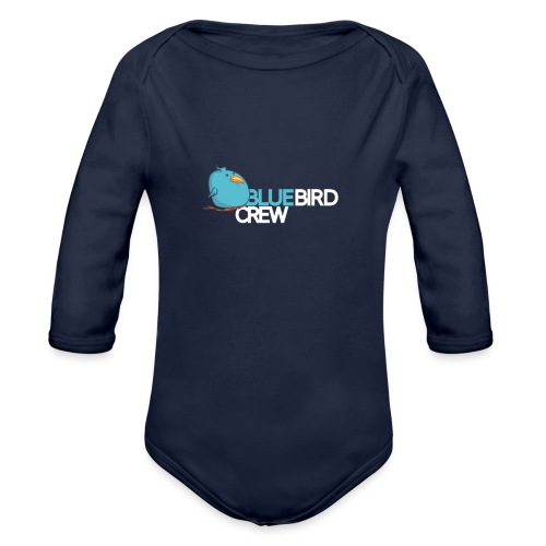 BlueCird Logo White - Baby Bio-Langarm-Body