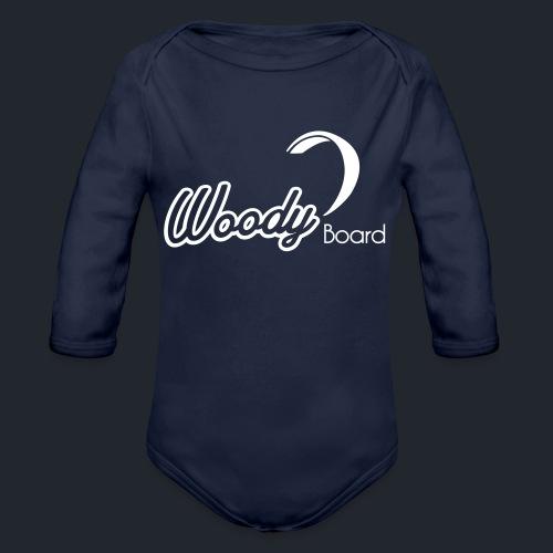 Logo Woodyboard Blanc - Body Bébé bio manches longues