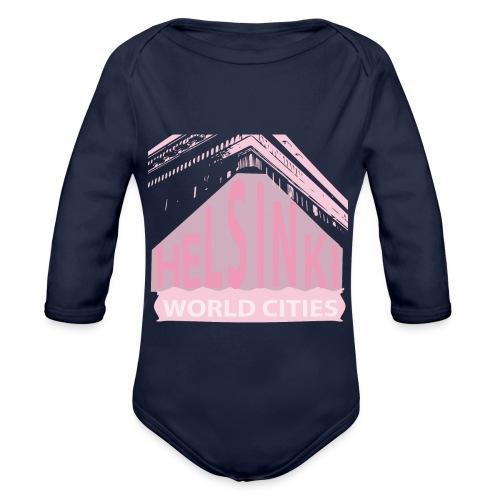 Helsinki light pink - Organic Longsleeve Baby Bodysuit