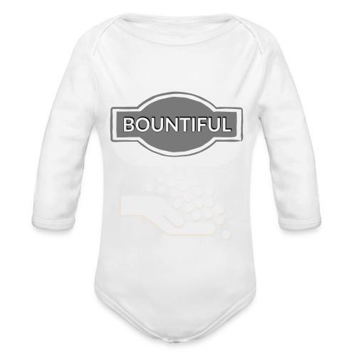 Bontiul gray white - Organic Longsleeve Baby Bodysuit