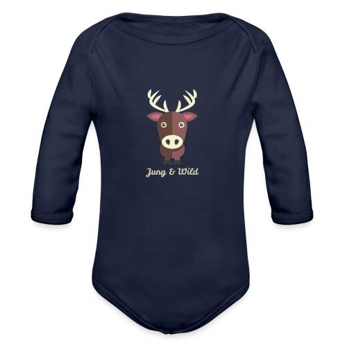 jung wild deer png - Baby Bio-Langarm-Body