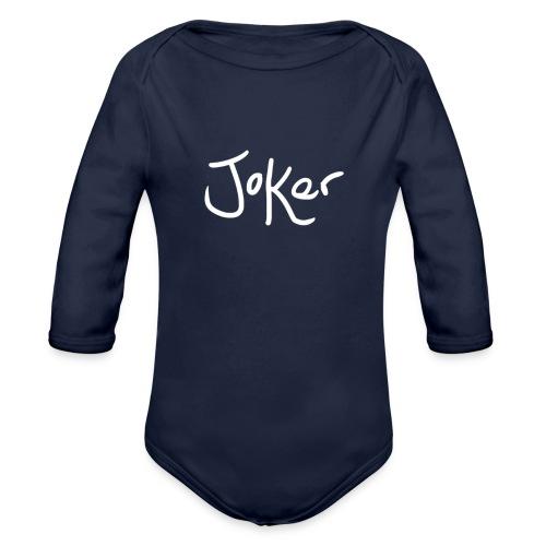 Joker Signature White - Organic Longsleeve Baby Bodysuit