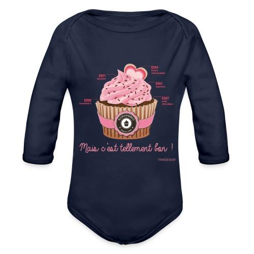 cupcake rose 2 - Body Bébé bio manches longues