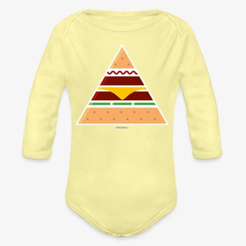 Triangle Burger - Body ecologico per neonato a manica lunga
