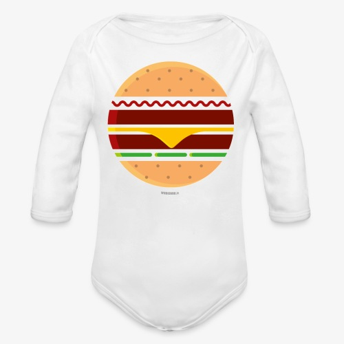 Circle Burger - Body ecologico per neonato a manica lunga