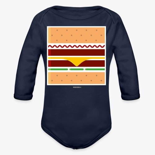 Square Burger - Body ecologico per neonato a manica lunga