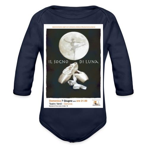 Il Sogno di Luna - Body ecologico per neonato a manica lunga