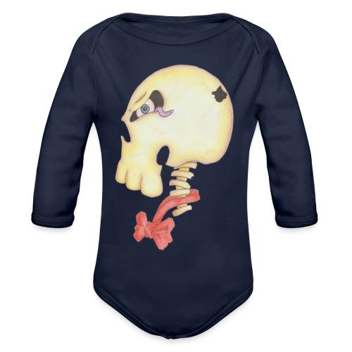 Bow Tie Skull Tee - Organic Longsleeve Baby Bodysuit