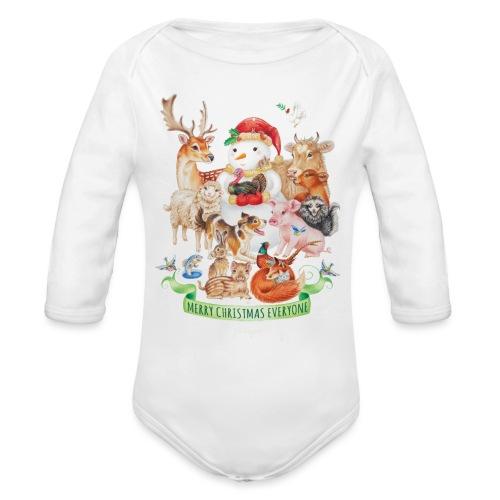 Vegan Christmas - Organic Longsleeve Baby Bodysuit